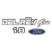 Kit De Emblemas Ford Del Rey Ghia 1.8 - Modelo Original