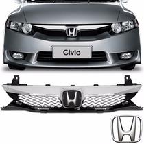 Grade Frontal Moldura Emblema Honda Civic 2009 2010 2011 12