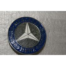 Emblema Do Capo Mercedes Benz De Metal 55mm