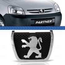 Símbolo Grade Peugeot Partner 12 11 10 Cromado Fundo Preto