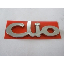 Emblema Clio Cromado Porta Mala Tampa Traseira Linha Renault
