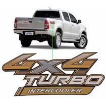 Emblema Adesivo 4x4 Turbo Intercooler Toyota Hilux 2014/2015