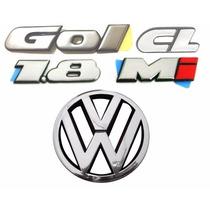 Emblemas Gol Bola Cl 1.8 Mi + Vw Da Grade - Modelo Original