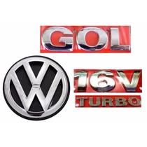 Kit Emblemas Gol G3 16v Turbo - Geração 3 - Modelo Original
