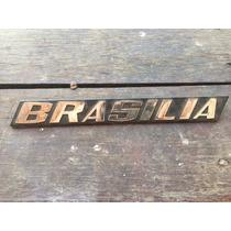 Emblema Trazeira Brasília Com Pino Novo De Estoque Antigo