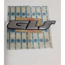 Emblema Gls Gol, Parati Gls E Glsi Original Vw Aço Escovado