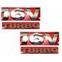 Kit Emblemas Para-lama Gol G3 - 16v Turbo - Modelo Original