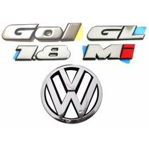 Emblemas Gol Bola Gl 1.8 Mi + Vw Da Grade - Modelo Original