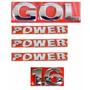 Kit Emblemas Gol G3 Power - Geração 3 - Modelo Original