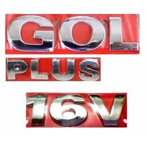 Emblema Gol G3 + Plus 16v - Geração 3 - Modelo Original