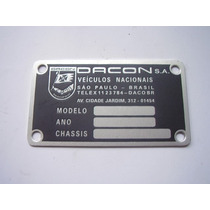 Emblema Cofre Do Motor Dacon Passat Sp2