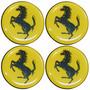 Logo Cavalinho Amarelo P/ Calota Ou Roda C/4 Peças 48mm
