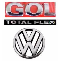 Emblema Gol G4 Flex + Vw Grade - Geração 4 - Modelo Original