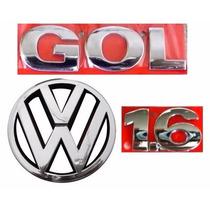 Emblema Gol G4 + 1.6 + Vw Grade- Geração 4 - Modelo Original