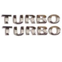 2 Emblemas Turbo Pequeno 2 Un. + Brinde Gol Golf Parati