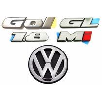 Emblemas Gol Bola Gl 1.8 Mi + Vw Da Mala - Modelo Original