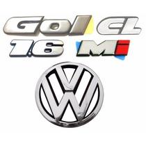 Emblemas Gol Bola Cl 1.6 Mi + Vw Da Grade - Modelo Original
