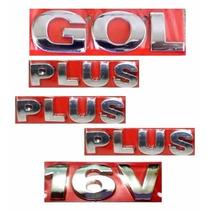 Emblemas Gol G3 + Plus + 16v - Geração 3 - Modelo Original