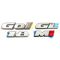 Emblemas Gol Bola Gl 1.8 Mi - 1995 À 1999 - Modelo Original