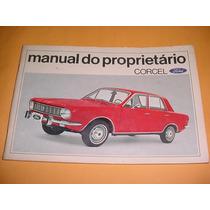Manual Proprietario Ford Corcel Gt Luxo E Belina 71 1971