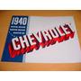 Folder Chevrolet 40 1940 - Maravilhoso
