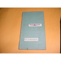 Manual Proprietario Ford Thunderbird 61 1961 Original Raro