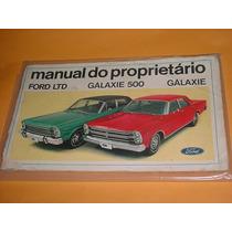 Manual Do Proprietario Ford Galaxie E Ltd 1970 70 Original
