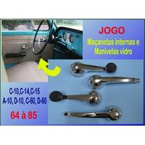 Maçaneta Interna E Manivela Vidro C-10 A10 D10 C60 D60 Jogo