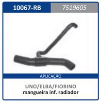Mangueira Inferior Radiador Com Rabicho Fi 7.5 Uno:1984a1990