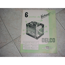 Folder Bateria Delco Anos 60 Chevrolet Gm Catalogo Original