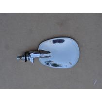 Retrovisor Fusca Novo Raquetinha Inox Espelho Esquerdo Unit
