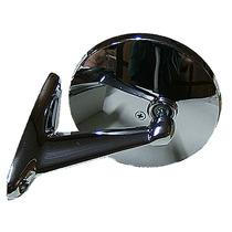 Espelho Retrovisor Cromado Universal Opala F100 C10 Chevette