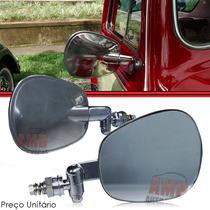 Espelho Retrovisor Fusca Cromado Original Em Inox Rx6630