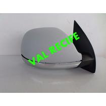 Retrovisor Amarok Com Base Cromada Com Antena Elétrico Ld