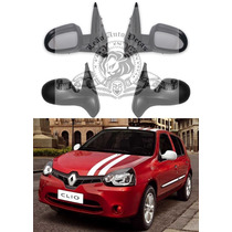 Retrovisor Renault Clio 12/15 Manual C/controle Novo Esq.