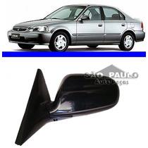 Retrovisor Honda Civic Ano 1997 1998 1999 2000lado Esquerdo