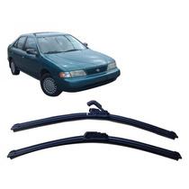 Par Palhetas Diant Limpador Parabrisa Nissan Sentra 95-97
