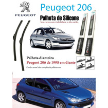Palheta Automotiva Silicone Limpador Peugeot 206 1998 Diante