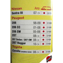 Palheta Diant E Refil Tras Dyna Silicone Peugeot 207 08/...