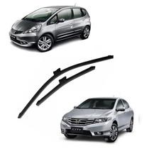 Palheta Limpador Parabrisa Honda New Fit City Especifico