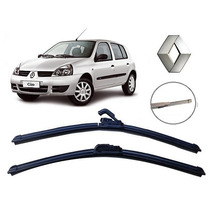 Kit Palheta Limpador Parabrisa Dianteiro+traseiro Clio Hatch