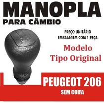 Manopla Bola Câmbio Tipo Original Peugeot 206 S/coifa 40212
