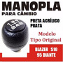 Manopla Cambio Tipo Original S10 Blazer Preta - 40111