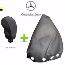 Coifa + Bola Manopla Cambio Mercedes Classe A Cinza *