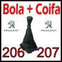 Kit Bola Marcha + Coifa Couro Peugeot 206·207 Padrão Ori.®