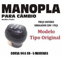 Manopla Cambio Tipo Original Corsa 94 A 98 Preta - 40107