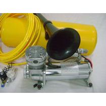 Buzina Ar Caminhão Cilindro +compressor + Valvula Solenoide