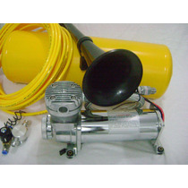 Buzina Ar Cilindro +compressor + Valvula Solenoide 1 Corneta