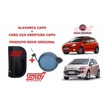 Alavanca + Cabo Abertura Capô Fiat Punto E Linea Original