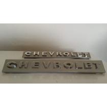 Emblema Chevrolet Da Grade E Do Painel Traseiro Opala 69/74